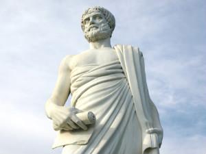 Aristoteles beeld Stagira in Chalkidiki