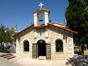 Ag. Nikoladi kerkje in Kallithea Chalkidiki
