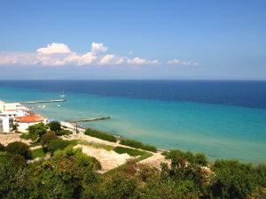 Kallithea Ammos Zeus en de zee