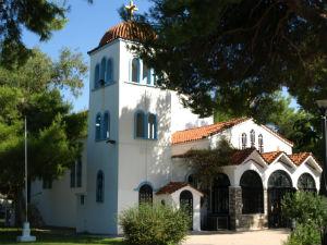 Kerk in Hanioti op Chalkidiki