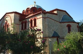 Pefkohori kerk op Chalkidiki Griekenland