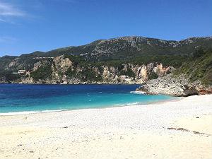 Privéstrandjes op Ionische eiland Corfu