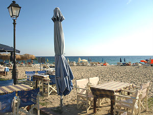 Nea Skioni strand en terras Chalkidiki