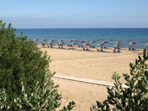 Het strand van Banana beach Zakynthos