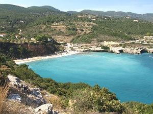 Makris Gialos baai en strand op Zakynthos