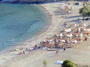 Spathi beach op het eiland Kea
