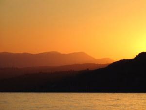 Prachtige zonsondergang op Rhodos