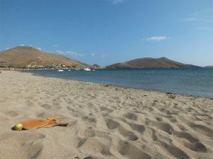 Plati beach op Limnos in Griekenland