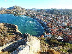 Uitzicht op Myrina vanaf Kastro