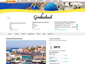 Subweb nieuwe website en meer kleinschalige accommodaties Griekenland