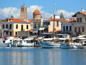 Aegina stad Griekenland