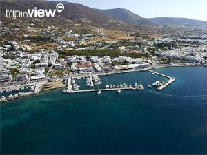 Griekse vakantiebestemmingen online vanuit helikopter Paros