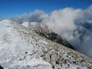 In de winter naar Griekenland sneeuw
