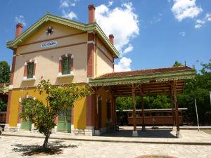 Pilion stoomtrein station Ano Lehonia