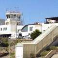 Vliegveld van Santorini in Griekenland