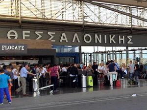 Vliegveld Thessaloniki Griekenland aankomsthal