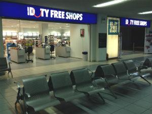 Vliegveld Zakynthos winkels duty free