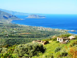Uitzicht op Monemvasia Lakonia Peloponnesos