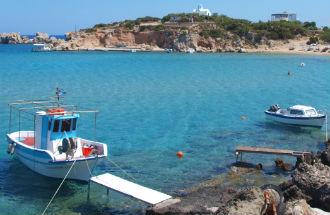 Amopi strand en baai Karpathos