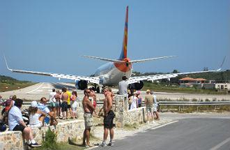 Vliegveld Skipathos in Griekenland