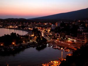 Limenaria zonsondergang op Thassos