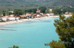 Skala Panagias ook wel Golden Beach op het eiland Thassos