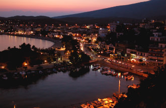 Limenaria Thassos haven by night