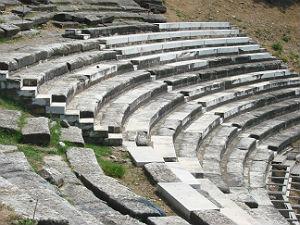 Thassos stad het amfi theater