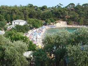 Thassos stad Saliara beach
