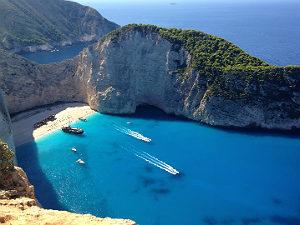 Shipwreck beach mooiste stranden Zakynthos