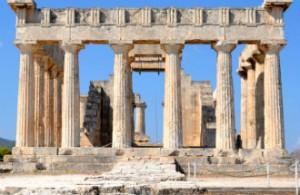 Aphaia tempel op Aegina