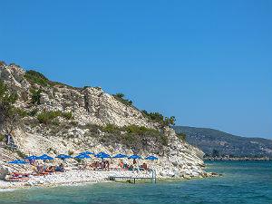 Papa beach bij Ireon op Samos