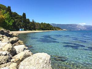 Kontokali zee en strand Corfu