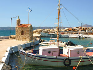 Kalyves haventje op Kreta
