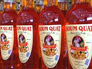Kumquat likeur in flessen van Corfu
