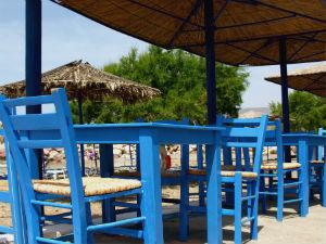 Kokkinos Pirgos terras aan het strand Kreta