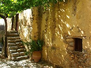 Preveli Kreta het Kato Moni klooster