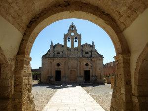 Arkadi klooster Rethimnon op Kreta poort