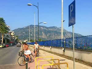 Fietsen in Kalamata Peloponnesos Griekenland fietspad