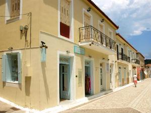 Finikounda Peloponnesos dorpstraat