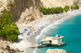 Glyka Nera beach op Kreta