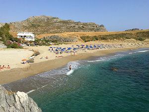 Schooner beach bij Plakias op Kreta