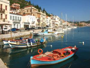 Gythio haventje op de Peloponnesos
