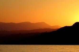 Het weer in Griekenland 10 dagen de zonsondergang