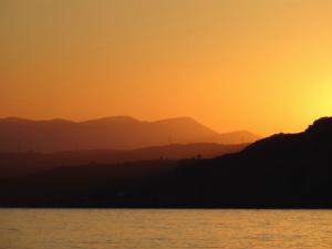 Het weer in Griekenland zonsondergang
