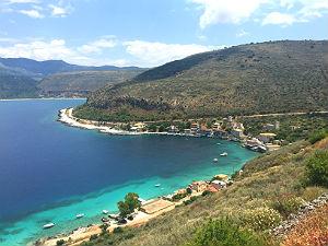 Uitzicht op Limeni op de Peloponnesos