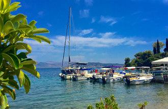 Bootje huren op Corfu Griekenland