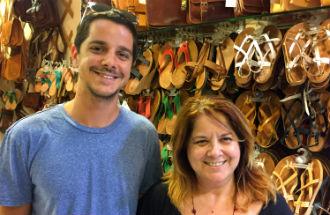 Leren sandalen en slippers uit Griekenland Simatis Corfu