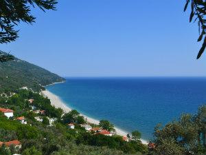 Herfstvakantie Griekenland verlaten strand
