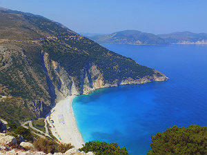 Mooiste stranden van Griekenland Myrtos Kefalonia